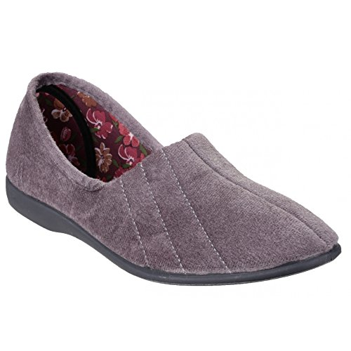 Slippers Flat Size Audrey 9 Lt Womens 6 Uk 4 7 8 Slip Ladies Blue 5 3 Grigio Gbs on wXYpqYx