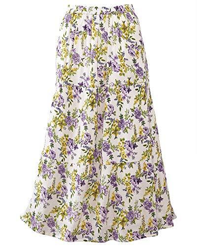 National Floral Crinkle Skirt, Lavender, Petite -