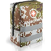 120 Pieces First Aid Kit, Tactical Trauma Kit Reflective...
