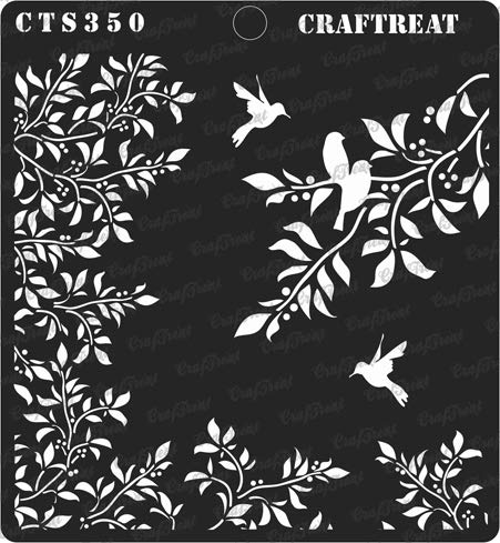 (CrafTreat Stencil - Leaves and Branch | Reusable Painting Template for Journal, Notebook, Home Decor, Crafting, DIY Albums, Scrapbook and Printing on Paper, Floor, Wall, Tile, Fabric, Wood 6