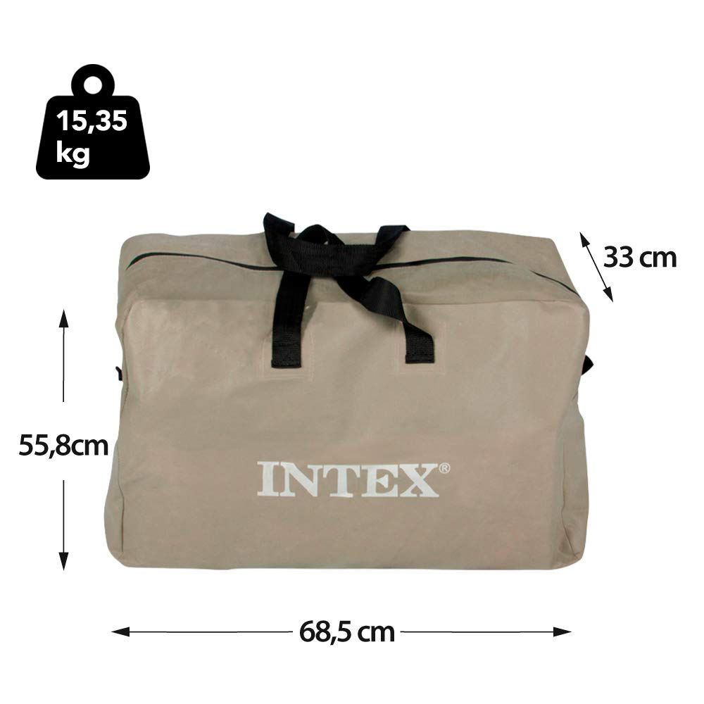 Intex 68325NP - Barca Hinchable Excursion 5 con 2 Remos 366 x 168 x 43 cm