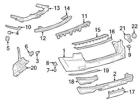 Amazon Com Mopar Bracket Rear Bumper Automotive