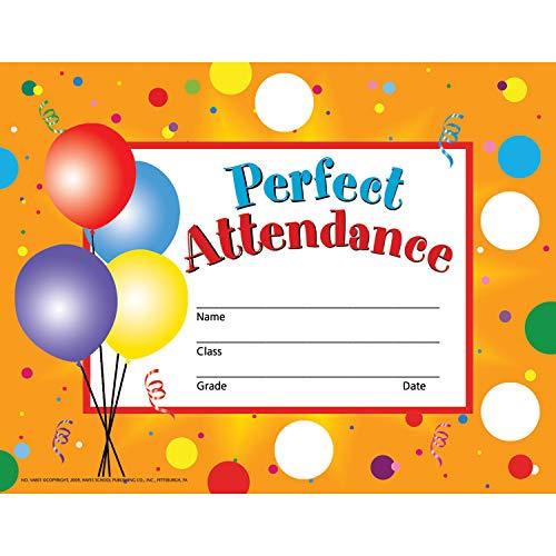 (Hayes H-VA801BN Perfect Attendance Certificates & Reward Seals, 8.5