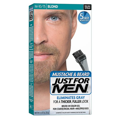 Brush-In Color Gel for Mustache & Beard, Blond M-10/15 1 ea By Just For Men(Pack of 5) -