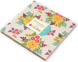 "Meadowbloom Layer Cake, 42 - 10"" Precut Fabric Quilt Squares By Prairie Grass Patterns for Moda"