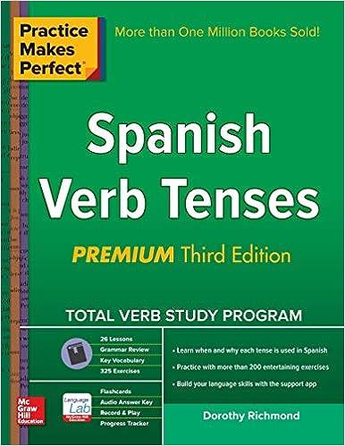 Amazon com: Practice Makes Perfect Spanish Verb Tenses