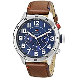 Tommy Hilfiger Men's 1791066 Stainless Steel Watch With Brown Leather Band