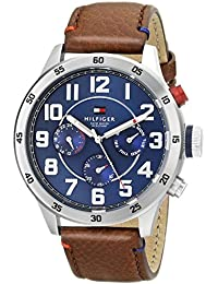 Men's 1791066 Stainless Steel Watch With Brown Leather Band