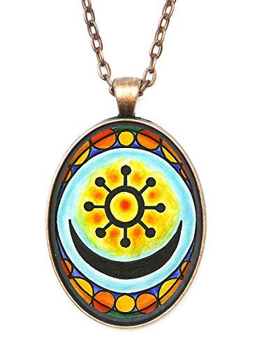 adinkra-osram-ne-nsoromma-for-love-faithfulness-harmony-huge-30x40mm-antique-copper-pendant