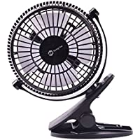 Beyonggear Rotation USB Clip Desk Fan Mini USB Portable Personal Electronic Table Fan - Black
