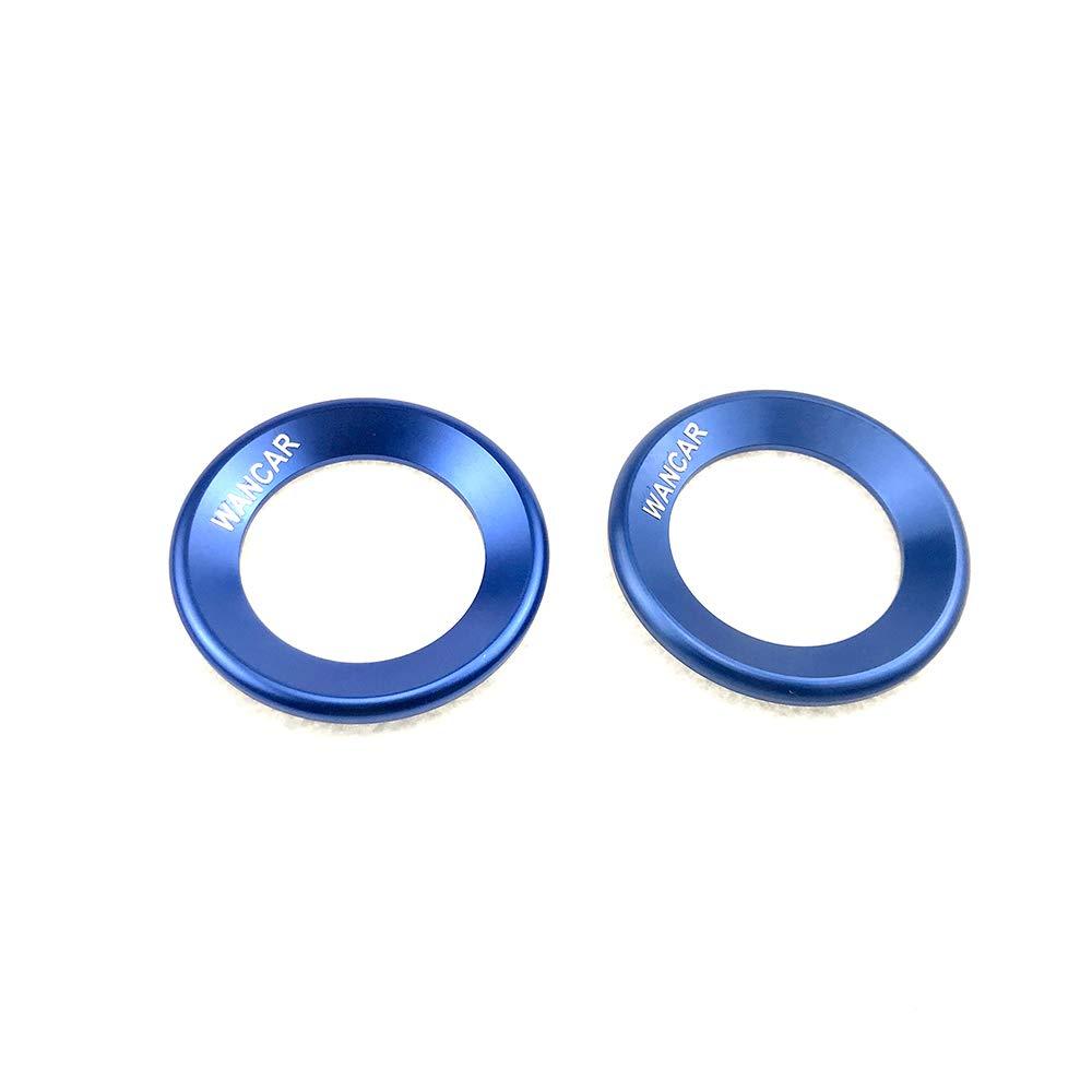 Silver Automotive Aluminum A-Pillar Loudspeaker Car Door Audio Speaker Rings Trims Decorations Circle for Honda Civic 16-19