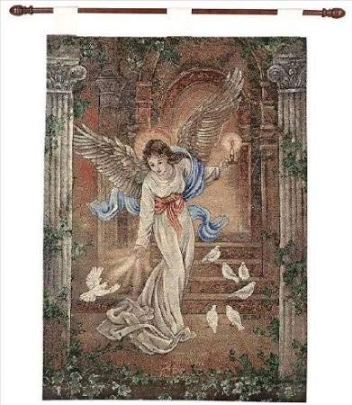 Manual Inspirational Collection 26 X 36-Inch Wall Hanging and Finial Rod, Angel of Light by Lena Liu,