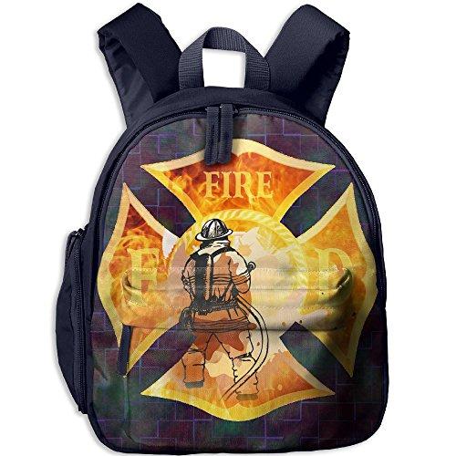Firefighter School Backpacks For Boys Girls Cute Bookbag Outdoor Daypack Colorkey