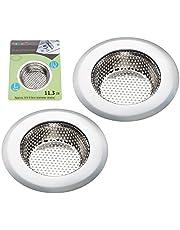 Fengbao 2PCS Kitchen Sink Strainer & Bathroom Drain Strainer - Stainless Steel