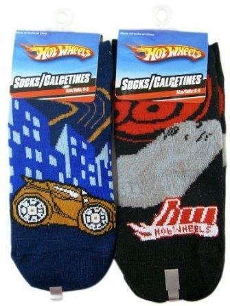 da5c4d8d93206 Amazon.com: Kids Socks-Hot Wheels Novelty Socks (2 pairs set): Clothing