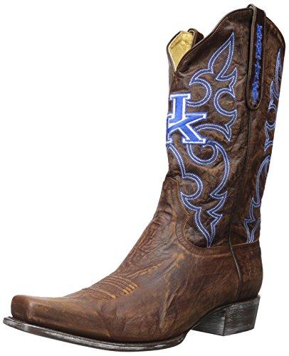 Ncaa Kentucky Wildcats Heren Boardroom Stijllaarzen Messing