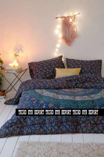 Indian Medallion Duvet Coverlet Tapestry / Hippie Mandala Bo