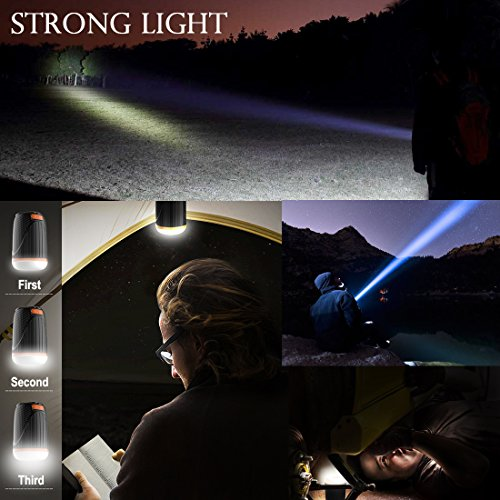 Panoraxy Camping LED Lantern Flashlight,USB Charger Tent Outdoor Light,10400mah Power Bank,500lm Lantern,1800lm Torch,Two-Color SOS,Beast Repellent Atmosphere,for Camping,Emergency,Hurricane by P Panoraxy (Image #1)