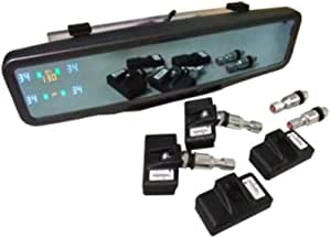 ORO Technology W403 (Rearview Mirror Display) Complete Retrofit TPMS Kit for Passenger Car or Light Truck