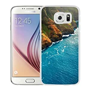 NEW Unique Custom Designed Samsung Galaxy S6 Phone Case With Ocean Meets Land_White Phone Case
