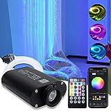 AMKI 16W RGBW Fiber Optic Curtain Light Kit, Flash