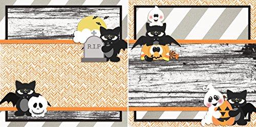 BATTY Non-Photo-Mat - Premade Scrapbook Pages - EZ Layout 2457 -