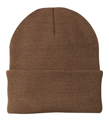 (Port & Company Knit Cap (CP90) Hat Brown)