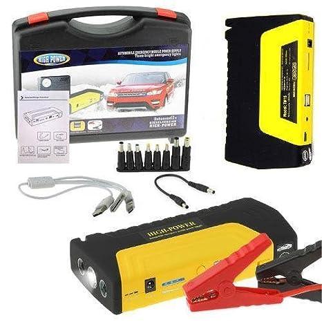 Avviatore Emergenza Portatile.Flm Avviatore Power Bank Portatile Giallo Di Emergenza Auto Batteria Booster Starter