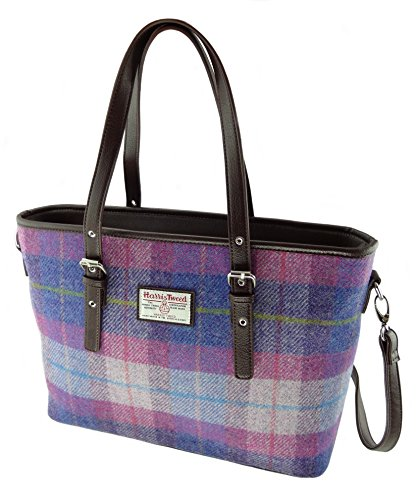 Spey Harris Ladies Large Tote Authentic In Colous Pink Purple LB1028 Various Tweed Bags Col47 BIqq65