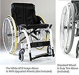 "Karman S-ATX-1616WT S-ergo ATX Ergonomic Active Wheelchair Design, Folding Frame With Rigid Collapsing Mechanism, 16""x16"" seat, Gray Tire & standard Wheel, Color Aspen White"
