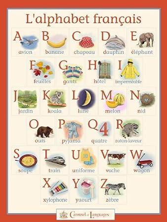 Cartel del alfabeto francés: Amazon.es: Hogar