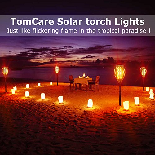 TomCare Solar Lights Upgraded, Waterproof Flickering Flames Torches Lights Outdoor Solar Spotlights Landscape Decoration Lighting Dusk to Dawn Auto On/Off Security Torch Light for Patio Driveway (4) by TomCare (Image #5)