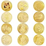 12Pcs Bitcoin Coin Collector's Cryptocurrency Gift