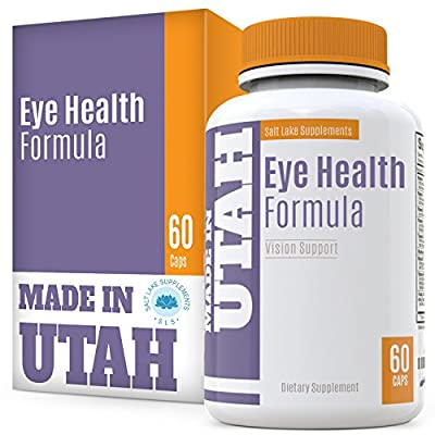 Eye Health Formula With Essential Vitamins, Minerals and Natural Herbs Including Lutein - Supports Overall Eye, Retina & Macula Health To Protect Your Vision And Keep It Healthy 60 capsules