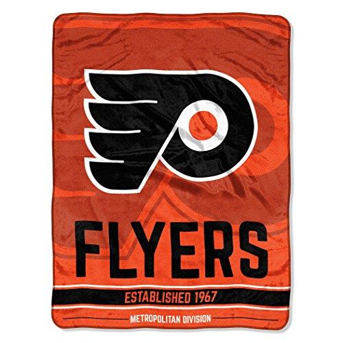 The Northwest Company Officially Licensed NHL Philadelphia Flyers Break Away Micro Raschel Throw Blanket, 46