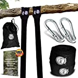 KingStrap TREE SWING STRAP HANGING KIT - TWO 10FT STRAPS, Hold 2500 lbs, TWO Heavy Duty Carabiner, FREE BONUS EBOOK, EASY INSTALLATION, 100% Waterproof, Carry Bag Included, Perfect way to swing