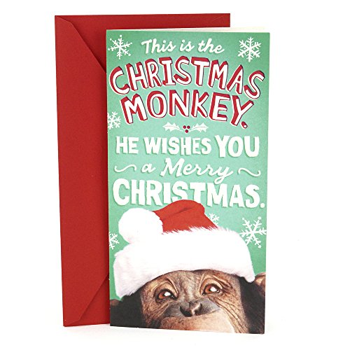 - Hallmark Pop Up Funny Christmas Money or Gift Card Holder (Monkey)