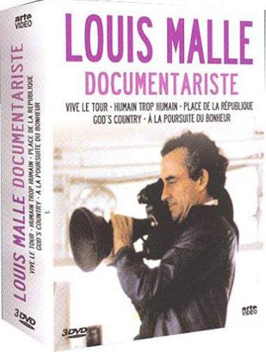 Coffret Louis Malle 3 DVD : Vive le tour (1962) / Humain trop humain (1973) / Place de la République (1974) / God's country (1986) / And the pursuit of the happiness (1987) - Three Films By Louis Malle