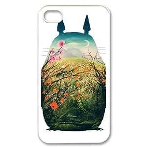 iPhone 4,4S Phone Case White My Neighbor Totoro AFVT588911