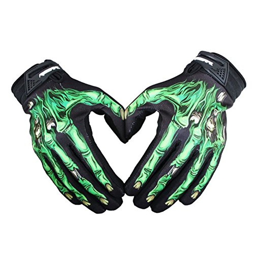 Balai Mens Cycling Bike Motorcycle Skull Bone Skeleton Racing Full Finger Gloves