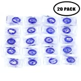 FOPINT 20 Pack CPR Pocket Mask CPR Mask Kit Emergency Face Shields with One-way Valve Breathing Barrier for First Aid Rescue or AED Training