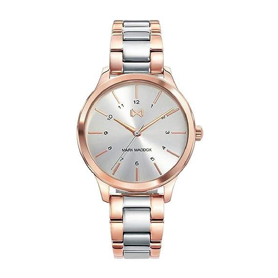 Mark Maddox Reloj Analógico para Mujer de Cuarzo con Correa en Acero Inoxidable MM7100-07: Amazon.es: Relojes