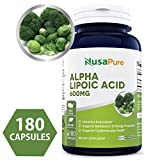 Best Alpha Lipoic Acid 600mg 180 Capsules (NON-GMO & Gluten Free) – Pure ALA Capsules – Ideal Formulas Supplement for healthy weight management, Athletic Performance – 100% MONEY BACK GUARANTEE! For Sale