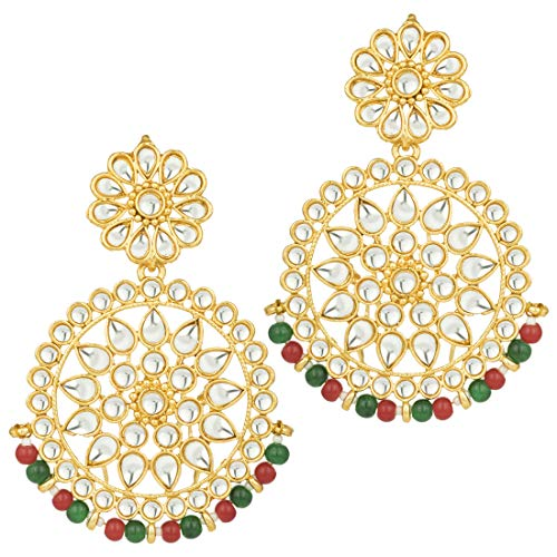 Aheli Chandbali Dangle Earrings Indian Bollywood Ethnic Fashion Jewelry for Women