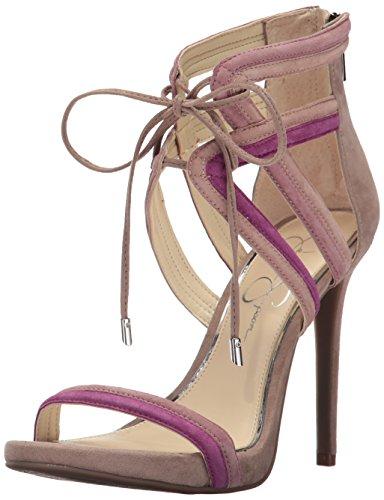 Jessica Simpson Donna Rensa Sandalo Con Tacco Caldo Misto Taupe