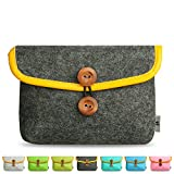 Litop® 5.9*8.2*2.4 Inches Carrying Felt Sleeve Case Bag Travel Organizer for Computer Electronics Mp3 Mp4 Logitech Apple Magic Mouse Charger Adapter Cord Connector Cable Memory Card Cellphone