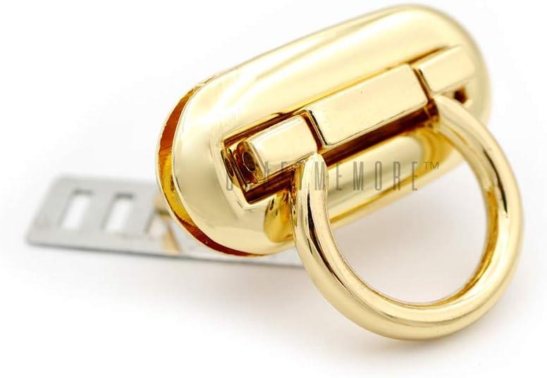 CRAFTMEmore 1pc 1-1//2 Rectangle Twist Turn Locks Purse Closure Clasp Leathercraft Accessory Silver