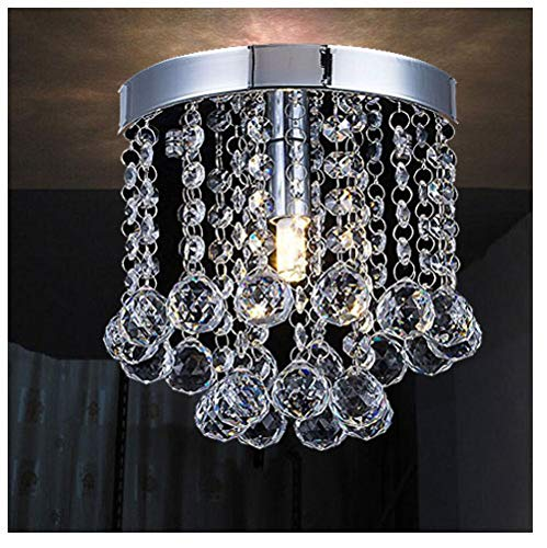 Chandelier Crystal Lighting,Modern Flush Mount Ceiling Light,Rain Drop Pendant Ceiling Lamp for Hallway Suitable for Dining Room,Banquet Hall H7.3 X W7.9 by Floodoor (Image #7)