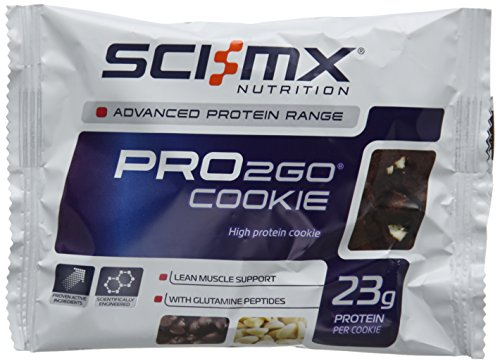 SCI-MX Nutrition 75 g Double Chocolate Chip Pro to Go Cookie Box - Pack of 12