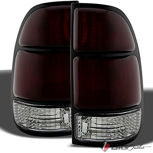 For 2000-2004 Tundra Smoked Red Tail Lights Brake Lamps Assembly Replacement LH+RH Pair Left+Right 2001 2002 2003